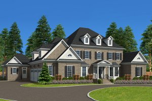 Dream House Plan - Traditional Exterior - Front Elevation Plan #1054-22