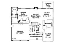Craftsman Floor Plan - Main Floor Plan Plan #124-949