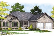 Home Plan - Ranch Exterior - Front Elevation Plan #70-1345