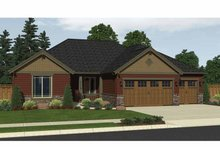 Craftsman Exterior - Front Elevation Plan #943-17