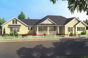 Ranch Exterior - Front Elevation Plan #513-2188