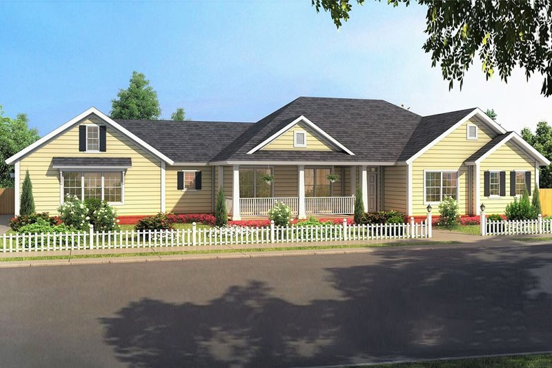Architectural House Design - Ranch Exterior - Front Elevation Plan #513-2188