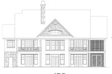 Craftsman Exterior - Rear Elevation Plan #929-872