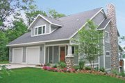 Bungalow Style House Plan - 2 Beds 2 Baths 1948 Sq/Ft Plan #928-195 Exterior - Front Elevation