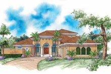 House Plan Design - Mediterranean Exterior - Front Elevation Plan #930-337