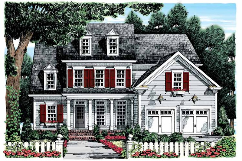 Classical Exterior - Front Elevation Plan #927-894
