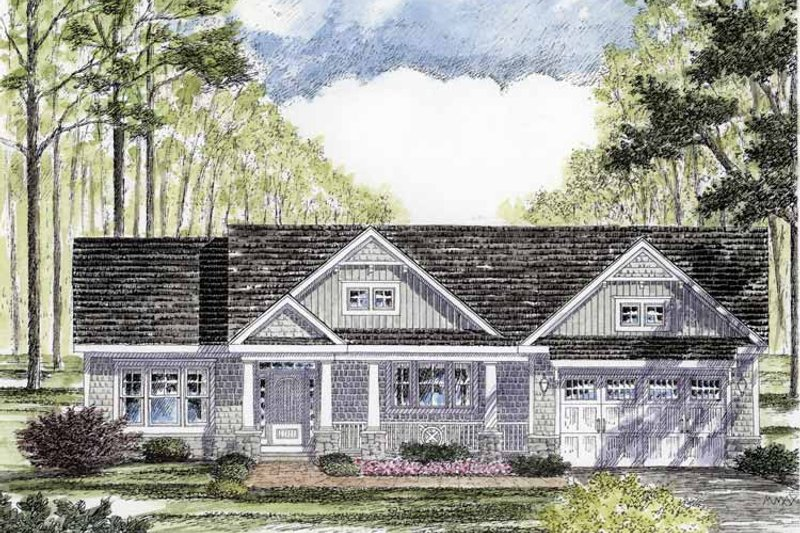 Craftsman Exterior - Front Elevation Plan #316-260 - Houseplans.com