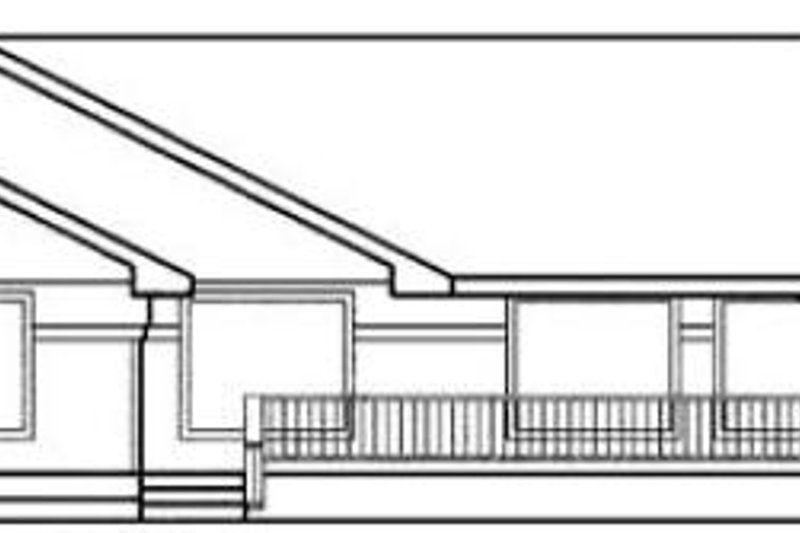 Traditional Exterior - Rear Elevation Plan #60-444 - Houseplans.com