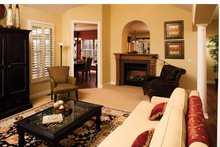 Architectural House Design - Country Interior - Family Room Plan #929-701