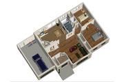 European Style House Plan - 2 Beds 1 Baths 1019 Sq/Ft Plan #25-4267 Floor Plan - Main Floor Plan