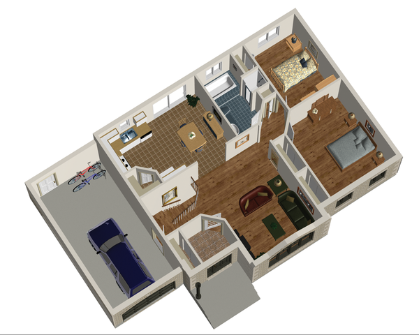 European Floor Plan - Main Floor Plan Plan #25-4267