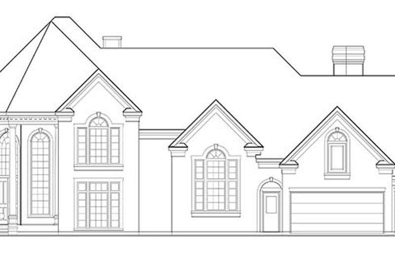 European Exterior - Front Elevation Plan #1021-8 - Houseplans.com