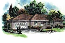 Ranch Exterior - Front Elevation Plan #18-123