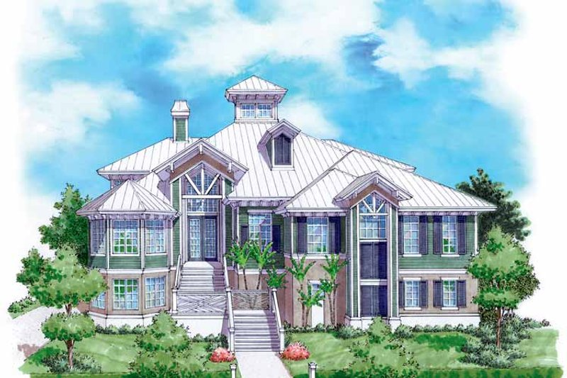 Architectural House Design - Mediterranean Exterior - Front Elevation Plan #930-132