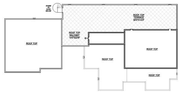 Modern Floor Plan - Upper Floor Plan Plan #1073-11