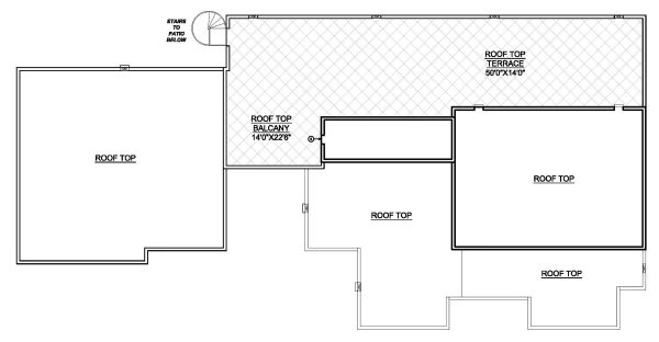 Modern Floor Plan - Upper Floor Plan Plan #1073-11