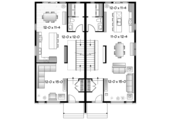 Contemporary Style House Plan - 5 Beds 2 Baths 3171 Sq/Ft Plan #23-2596 Floor Plan - Main Floor Plan