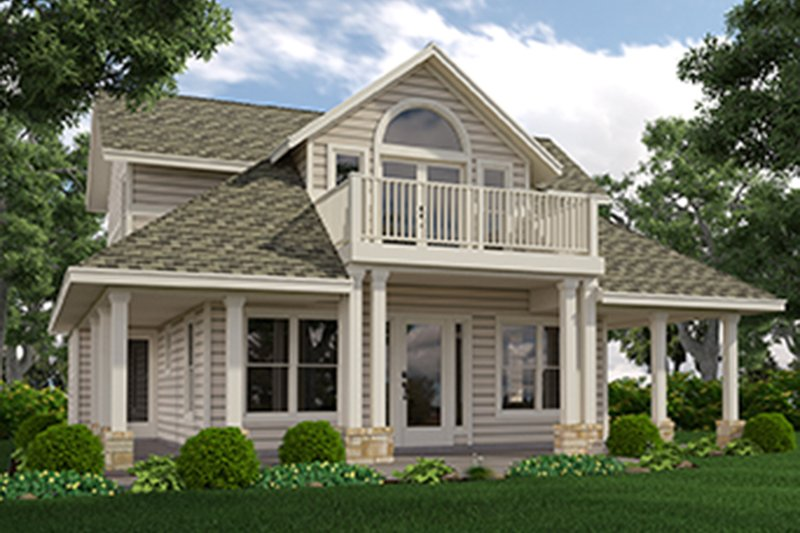 Home Plan - Country Exterior - Front Elevation Plan #472-396