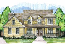 Country Exterior - Front Elevation Plan #46-819