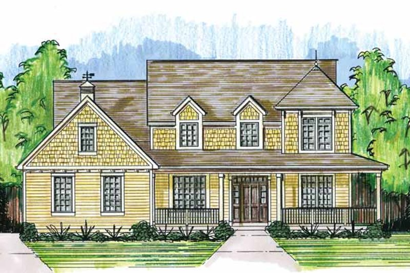 House Plan Design - Country Exterior - Front Elevation Plan #46-819