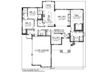 Ranch Floor Plan - Main Floor Plan Plan #70-1425