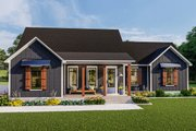 Country Style House Plan - 3 Beds 2 Baths 1936 Sq/Ft Plan #406-9659 Exterior - Front Elevation