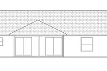 Ranch Exterior - Rear Elevation Plan #1058-30