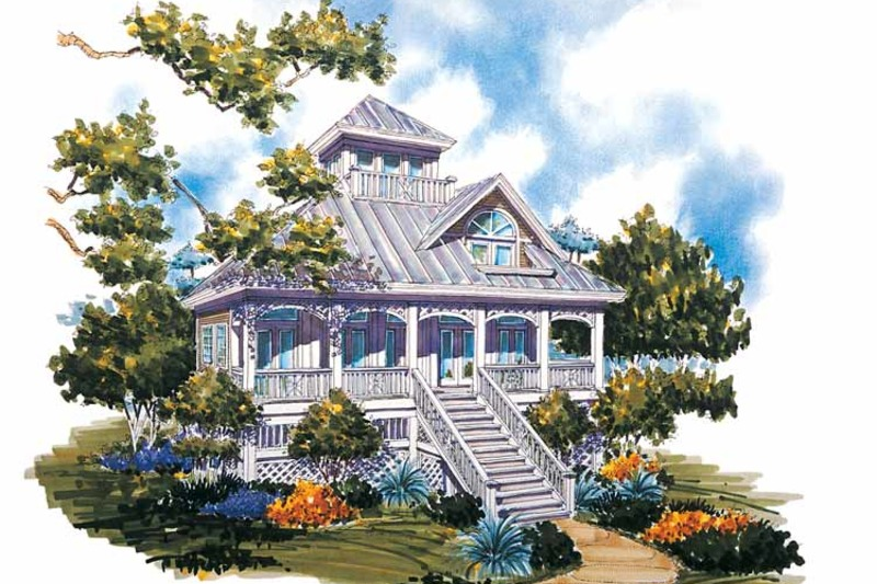 Country Exterior - Rear Elevation Plan #930-63 - Houseplans.com