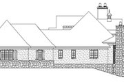 European Style House Plan - 3 Beds 3.5 Baths 3874 Sq/Ft Plan #929-929 Exterior - Other Elevation