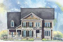Home Plan Design - Colonial Exterior - Front Elevation Plan #429-265