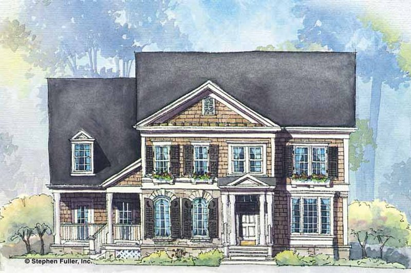 Colonial Exterior - Front Elevation Plan #429-265