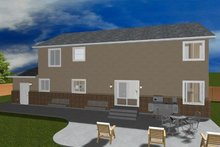 Home Plan - Traditional Exterior - Rear Elevation Plan #1060-17