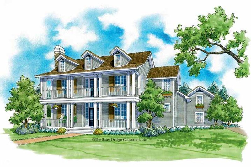 Classical Exterior - Front Elevation Plan #930-219