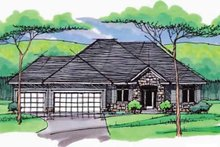 Architectural House Design - European Exterior - Front Elevation Plan #51-965