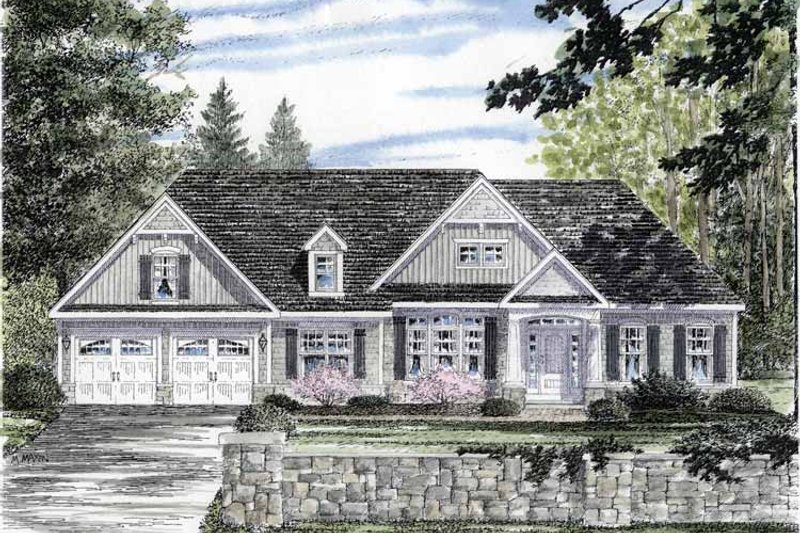 Craftsman Exterior - Front Elevation Plan #316-266