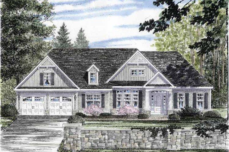 Craftsman Exterior - Front Elevation Plan #316-266