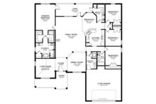 Ranch Floor Plan - Main Floor Plan Plan #1058-28