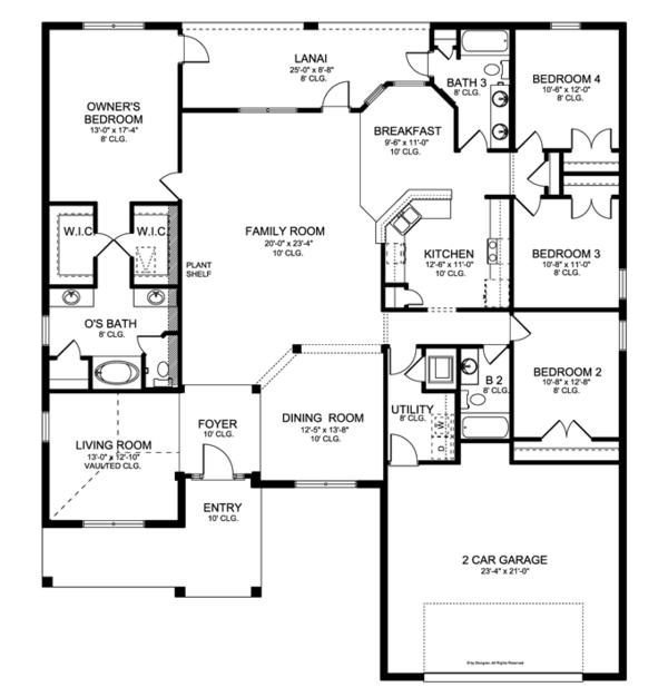 House Plan Design - Ranch Floor Plan - Main Floor Plan #1058-28