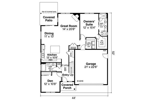 Traditional Floor Plan - Main Floor Plan Plan #124-1162