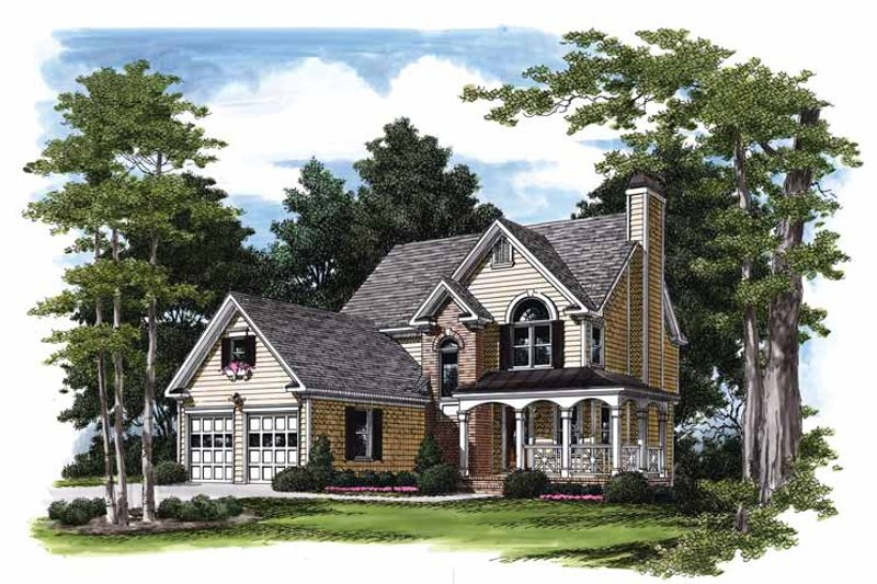 Traditional Exterior - Front Elevation Plan #927-194 - Houseplans.com
