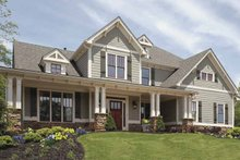 Craftsman Exterior - Front Elevation Plan #54-295