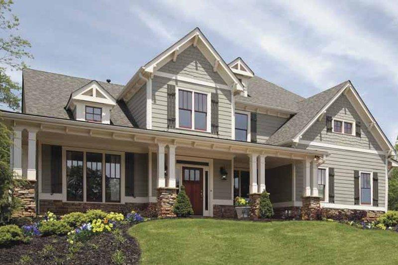 Home Plan - Craftsman Exterior - Front Elevation Plan #54-295