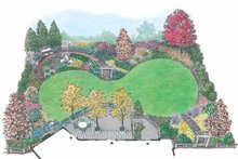 Architectural House Design - Exterior - Rear Elevation Plan #1040-102