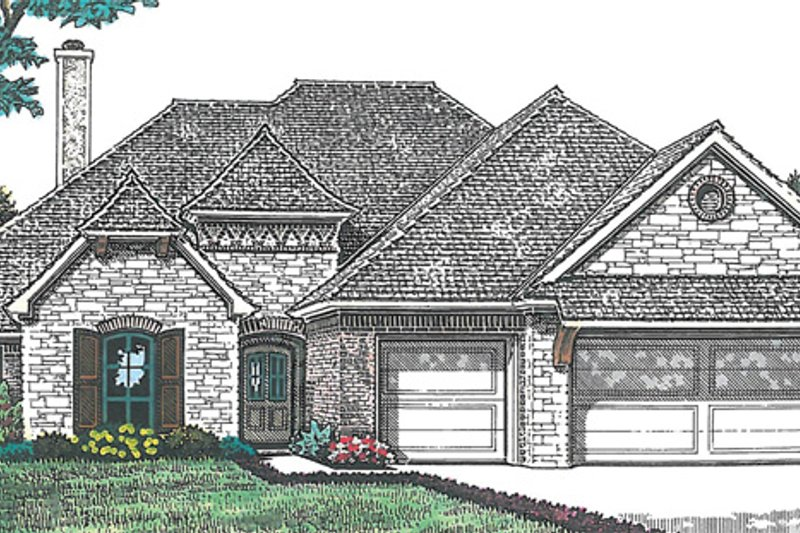 European Exterior - Front Elevation Plan #310-1258