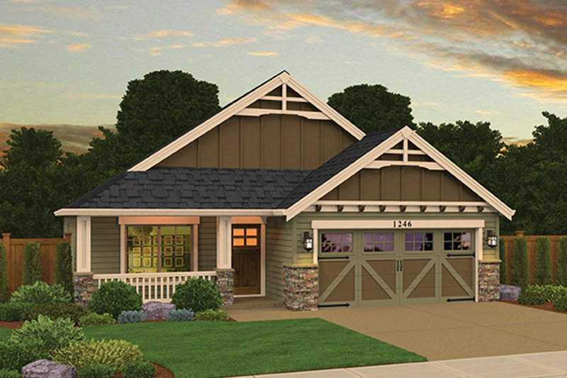 Craftsman Exterior - Front Elevation Plan #943-47