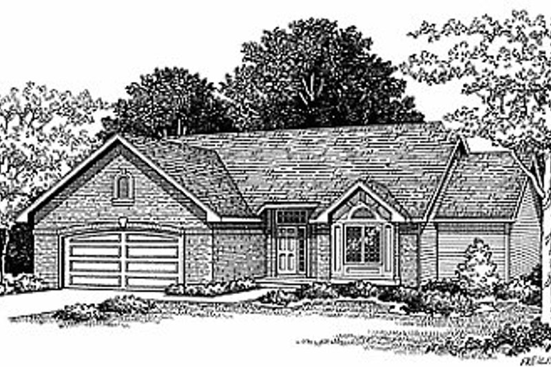 Traditional Exterior - Front Elevation Plan #70-157