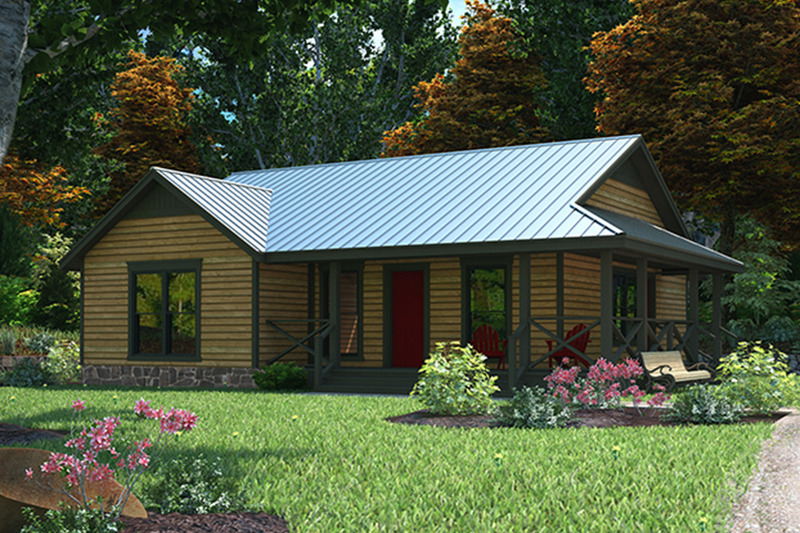 Country Exterior - Front Elevation Plan #472-283 - Houseplans.com