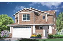 House Plan Design - Prairie Exterior - Front Elevation Plan #509-185