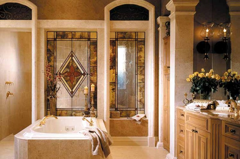 Mediterranean Interior - Master Bathroom Plan #930-325 - Houseplans.com