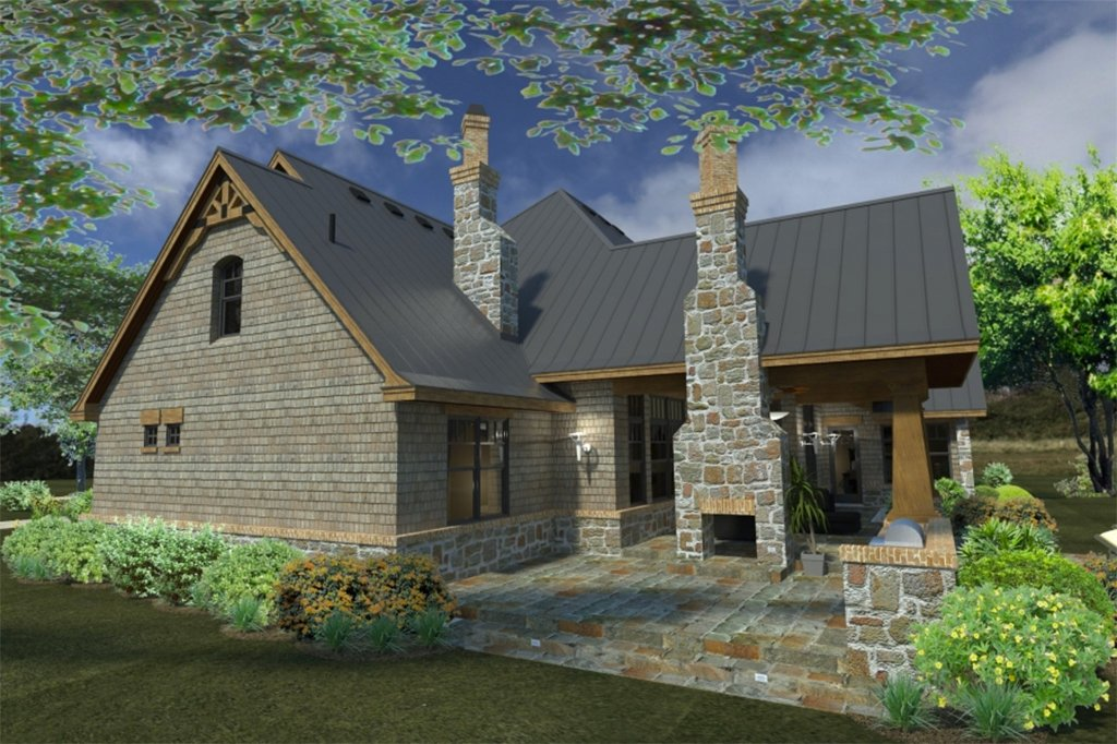 Craftsman style house plan 3 beds 3 baths 2847 sq ft for Square feet ap style